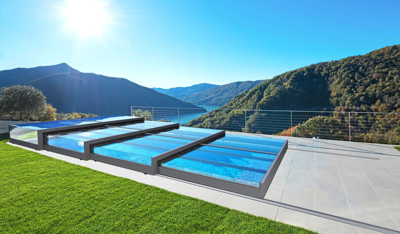 L'abri extra plat pour la couverture et la sécurité des piscines
